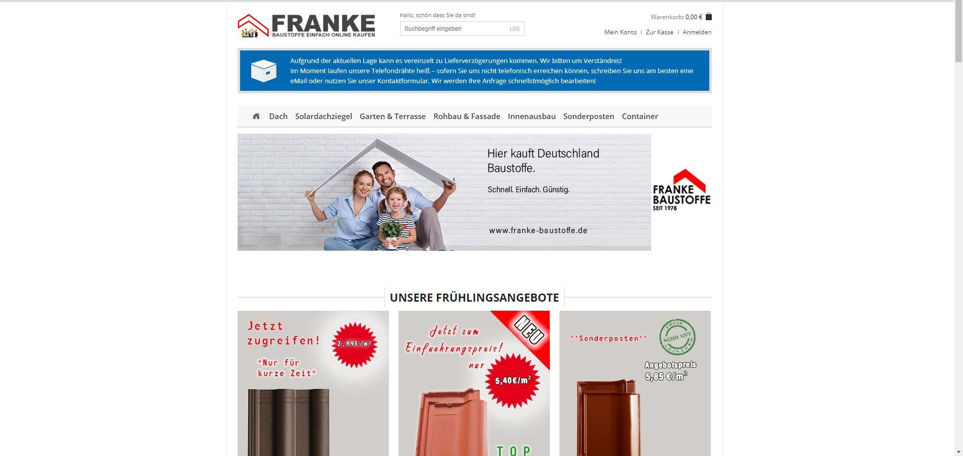 Franke und Partner Baustoffhandel